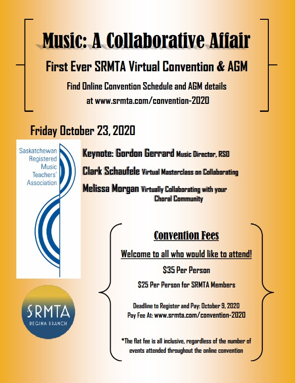 SRMTA provincial conference poster 2020